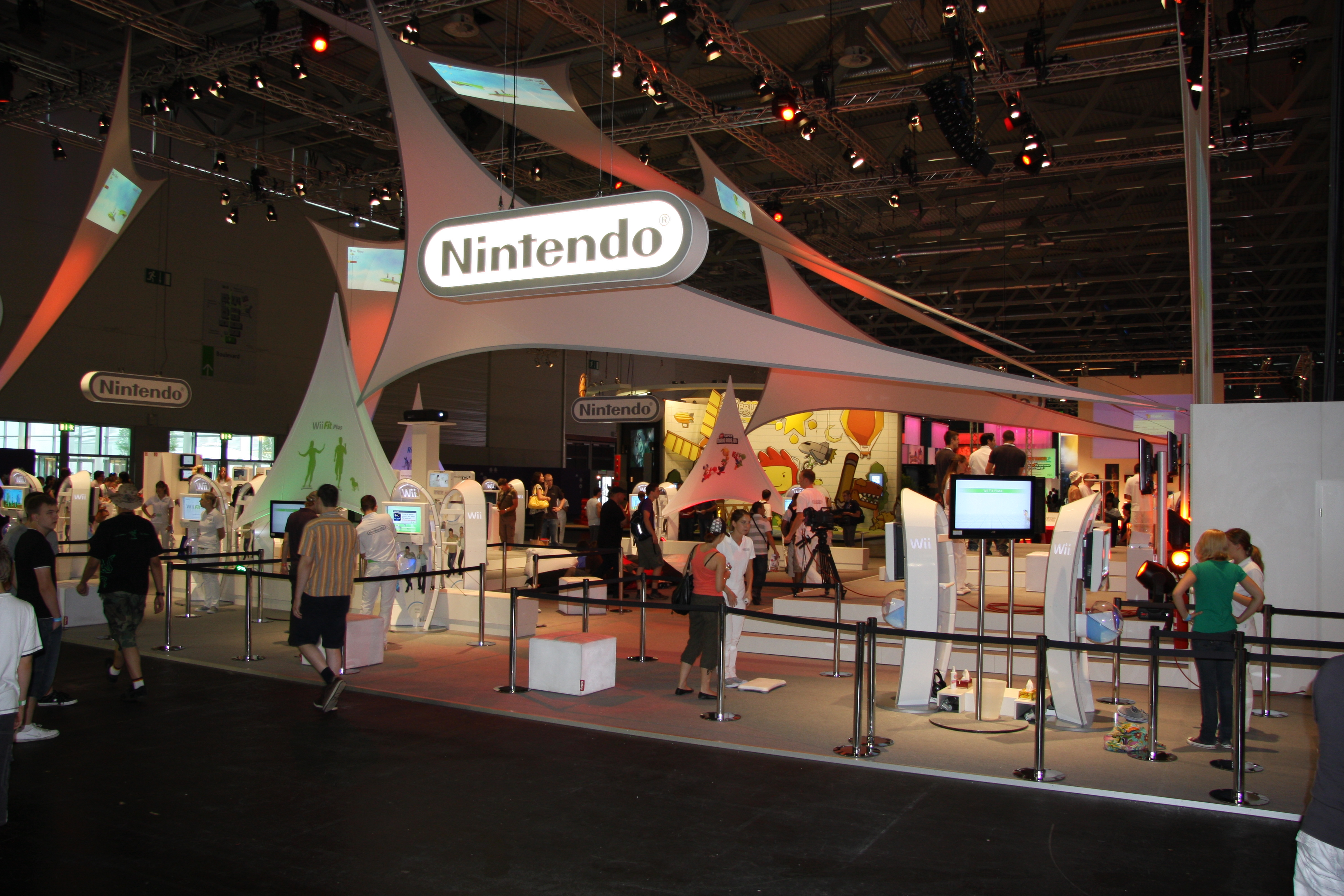 Booth of Nintendo at gamescom 2009
