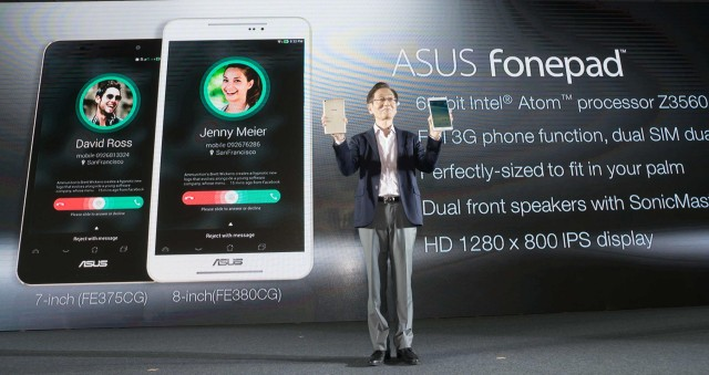 ASUS unveiled Fonepad 8, an 8-inch tablet with built-in 3G connectivity and phone functionality.