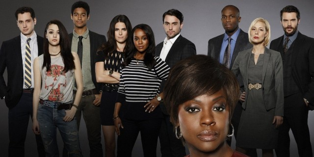 BACKGROUND: MATT MCGORRY, KATIE FINDLAY, ALFRED ENOCH, KARLA SOUZA, AJA NAOMI KING, JACK FALAHEE, BILLY BROWN, LIZA WEIL, CHARLIE WEBER; FOREGROUND: VIOLA DAVIS