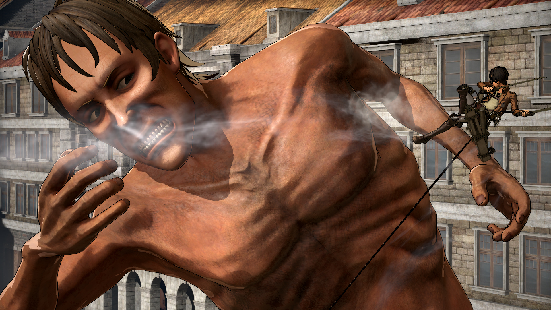Attack on Titan Wings of Freedom Acrion Eren