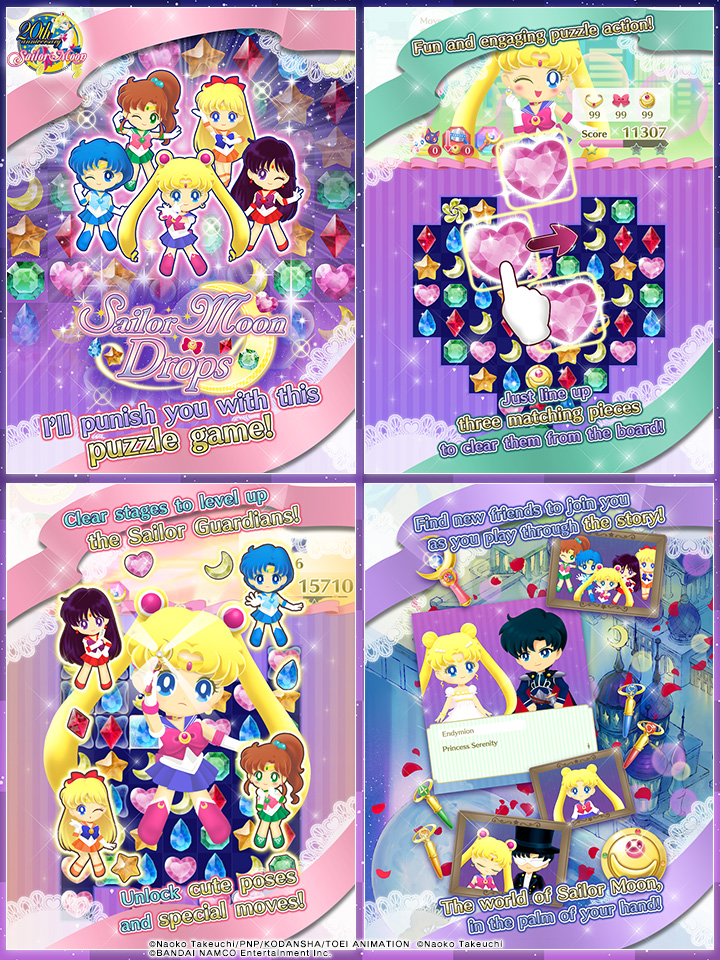Sailor Moon Drops screens