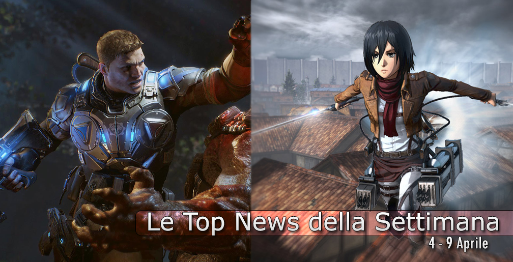 Photo of Le Top News della Settimana: Gears of War 4, Halo 5, Attack On Titan, Dragon Quest…