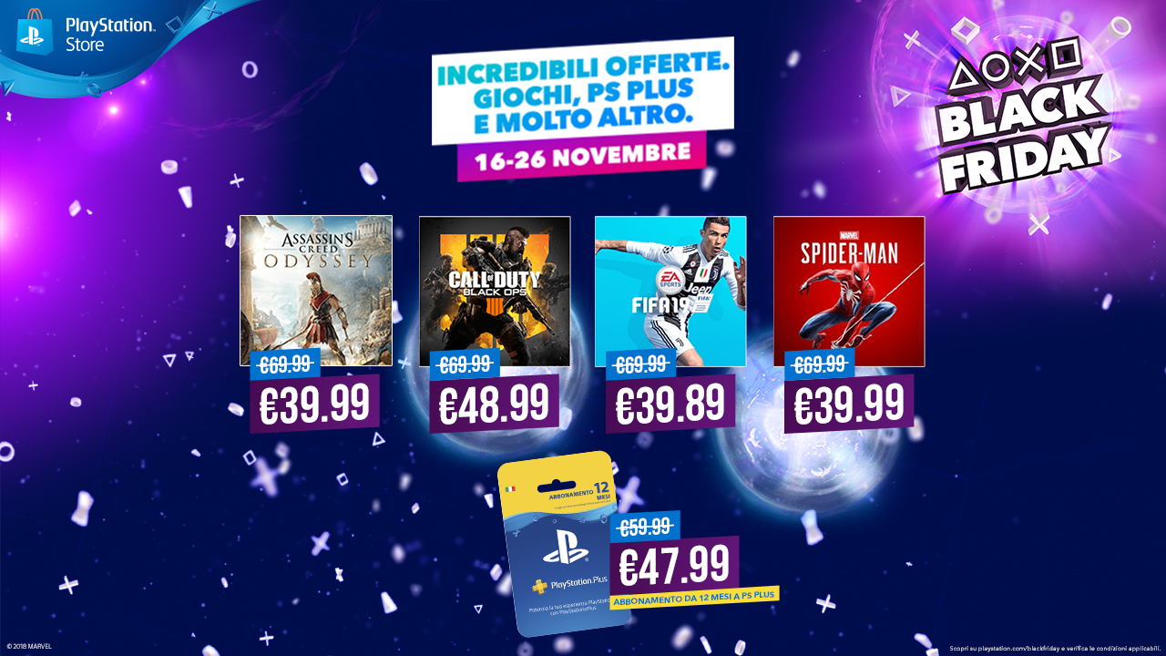 Photo of Iniziano le offerte di PlayStation per il Black Friday