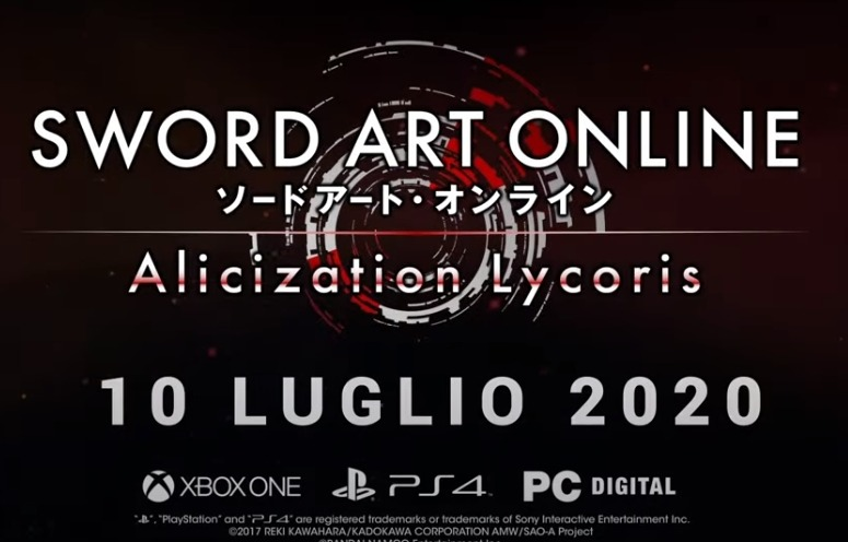 Photo of L'uscita di Sword Art Online Alicization Lycoris posticipata al 10 luglio